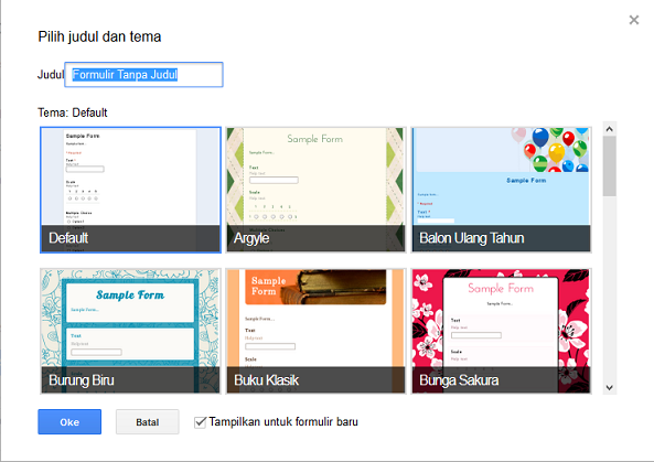 Template Formulir Google Doc