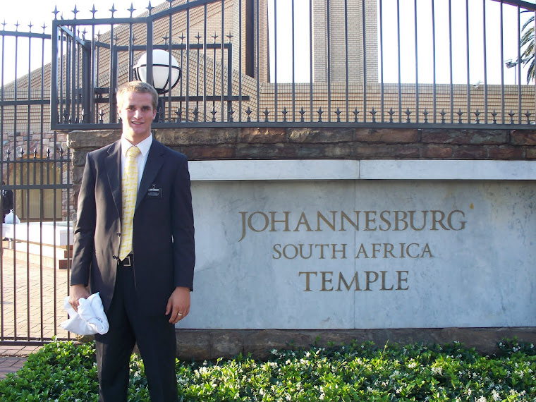 Nov 2010 at the Johanesburg South Africa Temple
