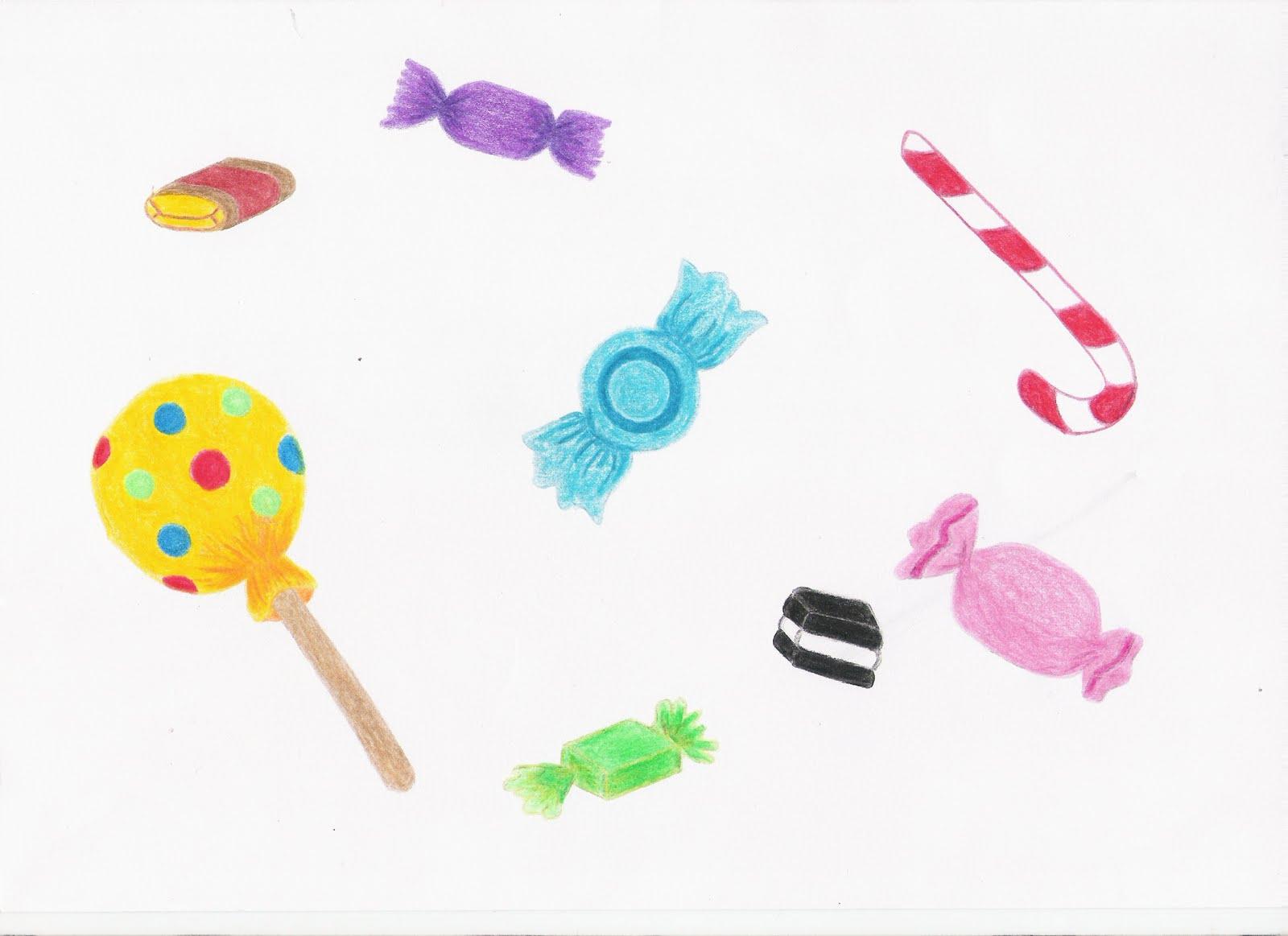 Envol de l 39 imagination essais de bonbons - Bonbon en dessin ...
