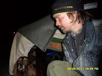 In der Nacht in Moor Nicht weit von Hüttenbusch weg