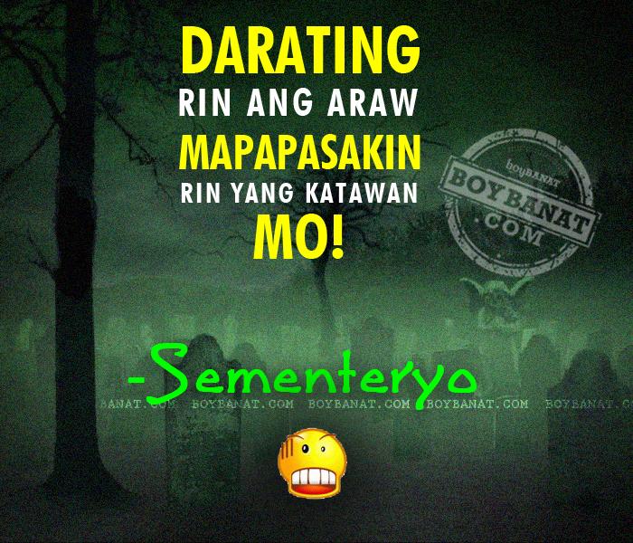 Tagalog Halloween Banat and Pickup Lines ~ Boy Banat