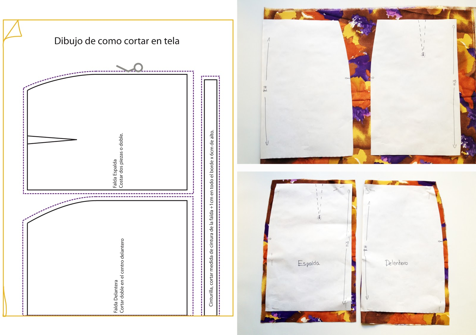 Mini falda básica (desde cero) - anna • evers - DIY Fashion blog
