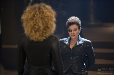 Dr Who, the Wedding of River Song. River Song with Madame Kovarian