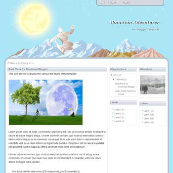 Mountain Adventurer blogger template. blogger template from wordpress theme