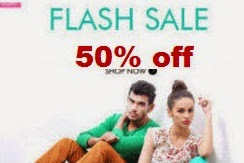 Myntra : Clothing, Footwear & Accessories 50% off from Rs. 85
