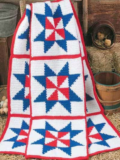 http://crochetcafe.blogspot.com/2014/07/free-pattern-patriotic-pinwheel-afghan.html