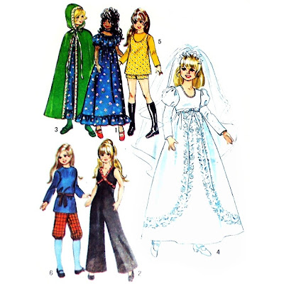 Doll sewing - Vintage Patterns for Chrissy Doll - Simplicity 9698 ...