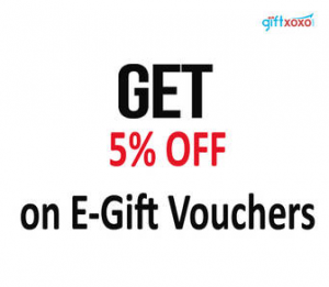 Giftxoxo: Buy Popular Gift Cards 5% off (Amazon, Myntra, Jabong & More)