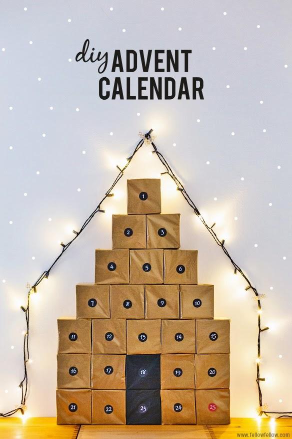 Diy 10 calendarios de adviento free printables - Calendario de adviento diy ...