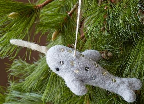 Nautical Ornament of the Week: West Elm Narwhal
