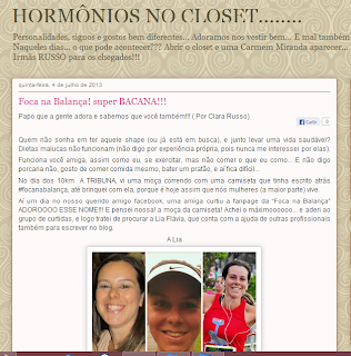 Foca na Balança no Blog Hormônios no Closet