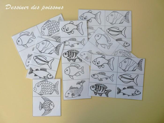 Le journal de chrys le th me des poissons en maternelle - Dessiner des poissons ...