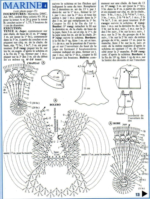 Платья для Барби - вязание крючком на 85