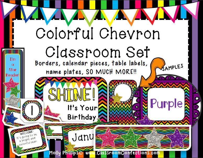 Classroom Decor Chevron ~ Printable file folder games other fun classroom