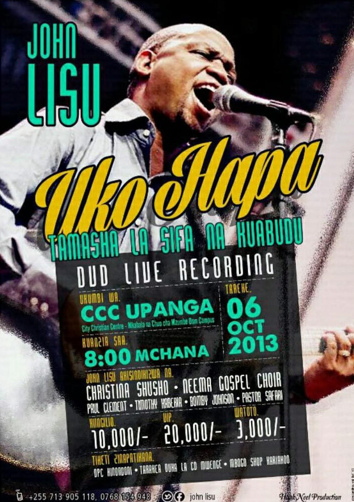 JOHN LISSU LIVE DVD RECORDING