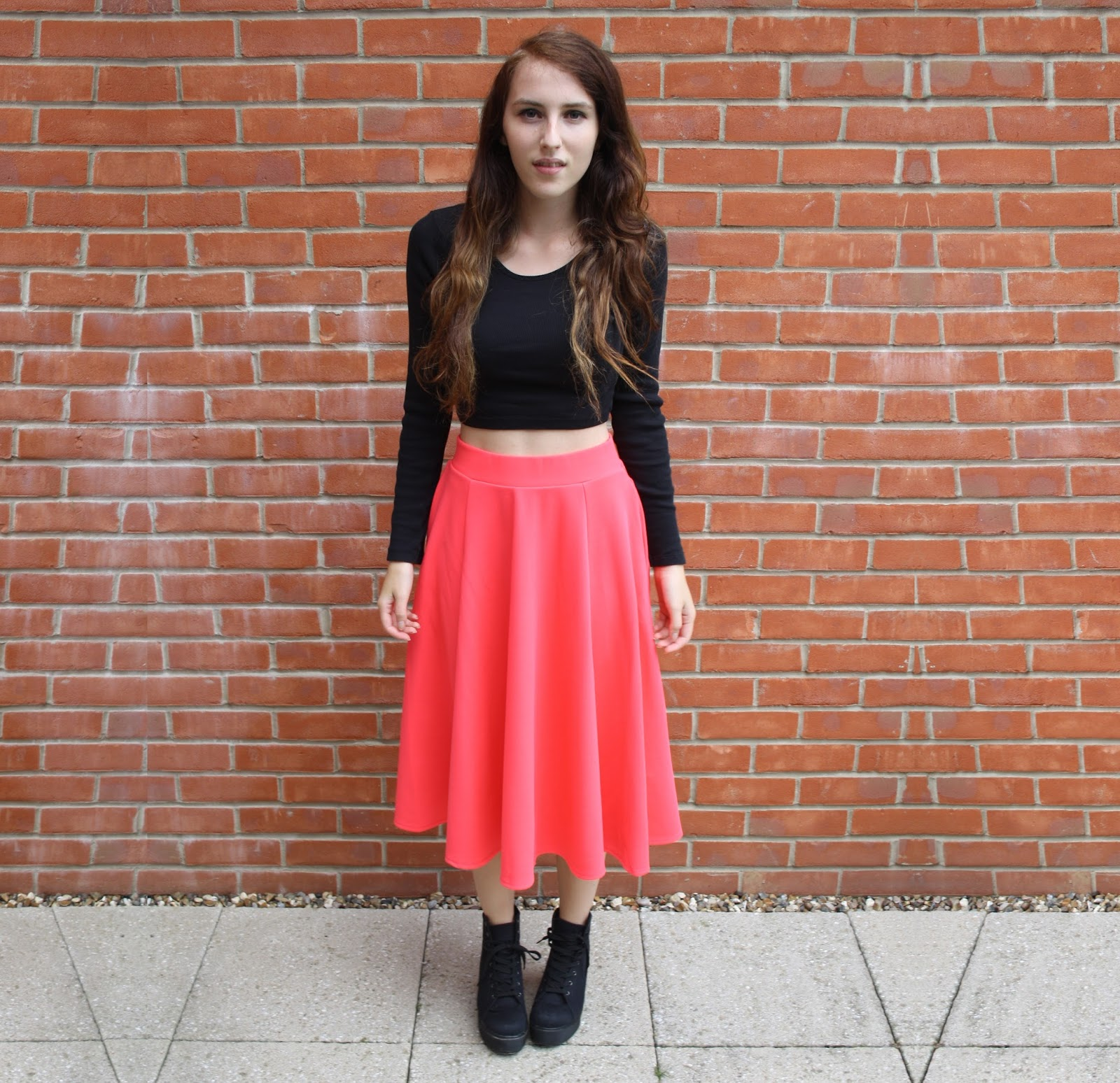 fashion ways to wear my co uk midi skater skirt
