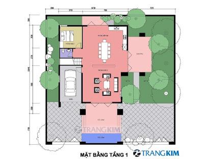 Tư vấn thiết kế biệt thự trên đất vuông
