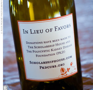 Donation To Charity Instead Of Wedding Gift : Change the label on the wine bottle to alert guests of your lovely ...