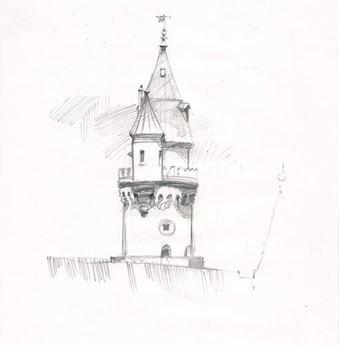 рисунок башенки нойшвайштайна