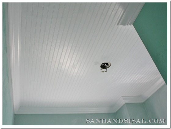 Be Different Act Normal How To Install A Beadboard Ceiling