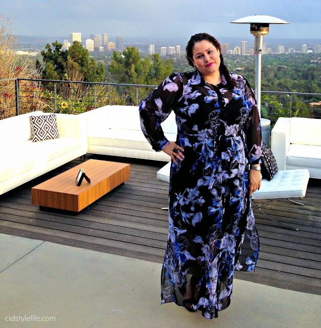 city chic, plus size, fashion, ootd, dress, loreal paris, beverly hills, diane keaton, los angeles view,