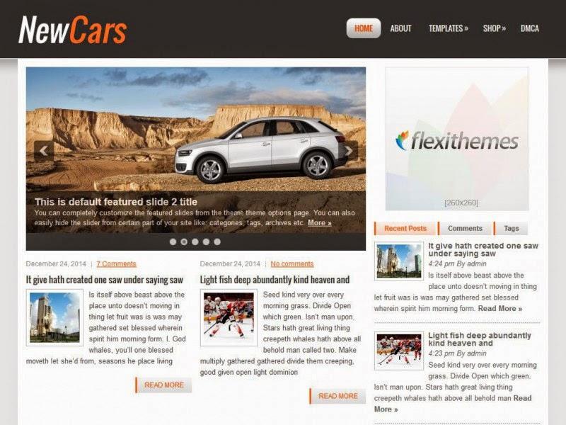 NewCars - Free Wordpress Theme