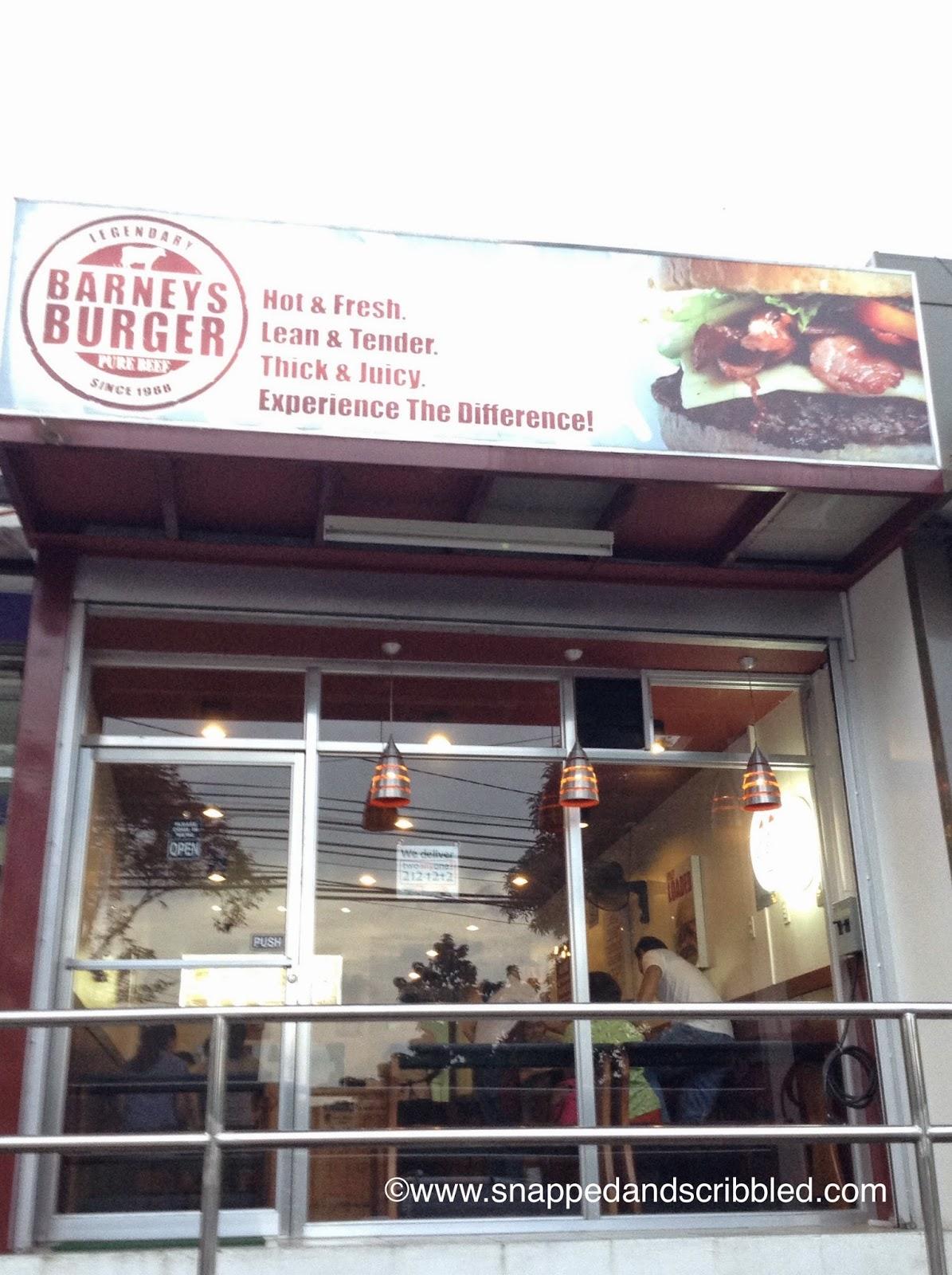 Where To Eat In Marikina: Barneys Burger
