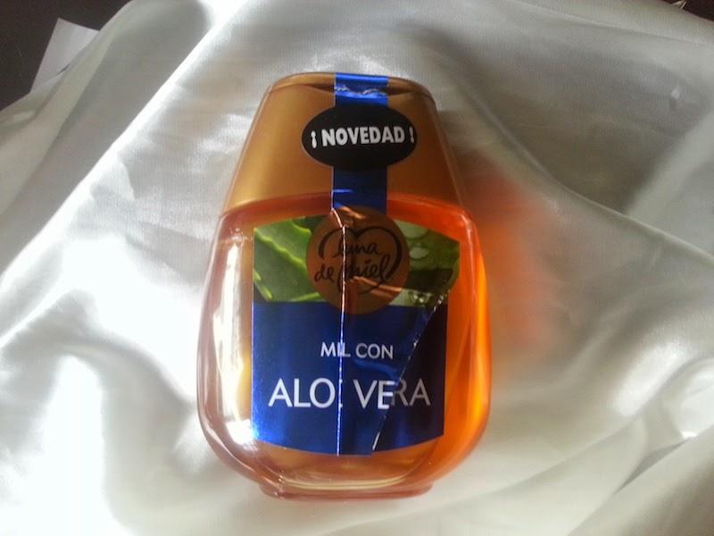 Sorbete de melocotón y fresas a la miel de aloe vera