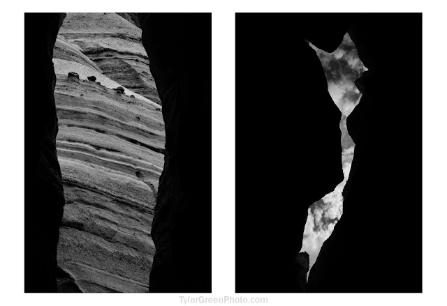 Slot canyon silhouette