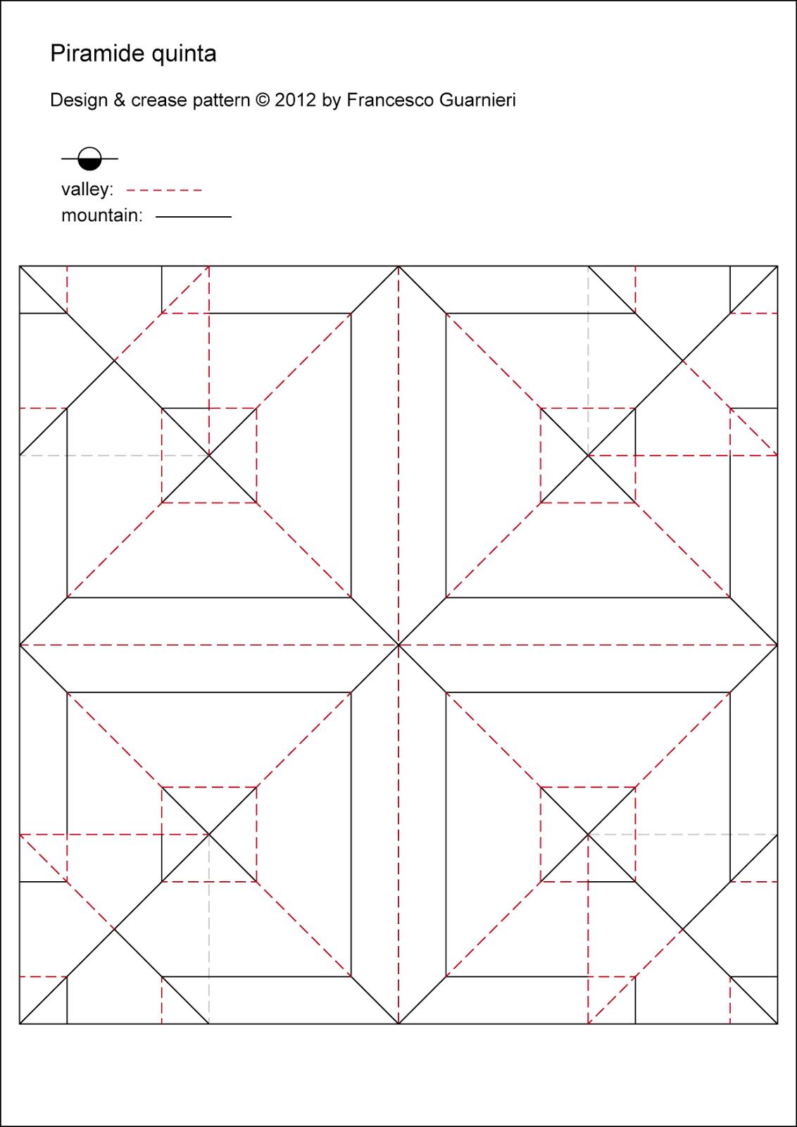 Origami CP Piramide quinta - Fourth pyramid by Francesco Guarnieri