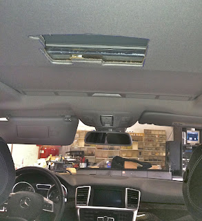 Mercedes Overhead LCD DVD Player Installation