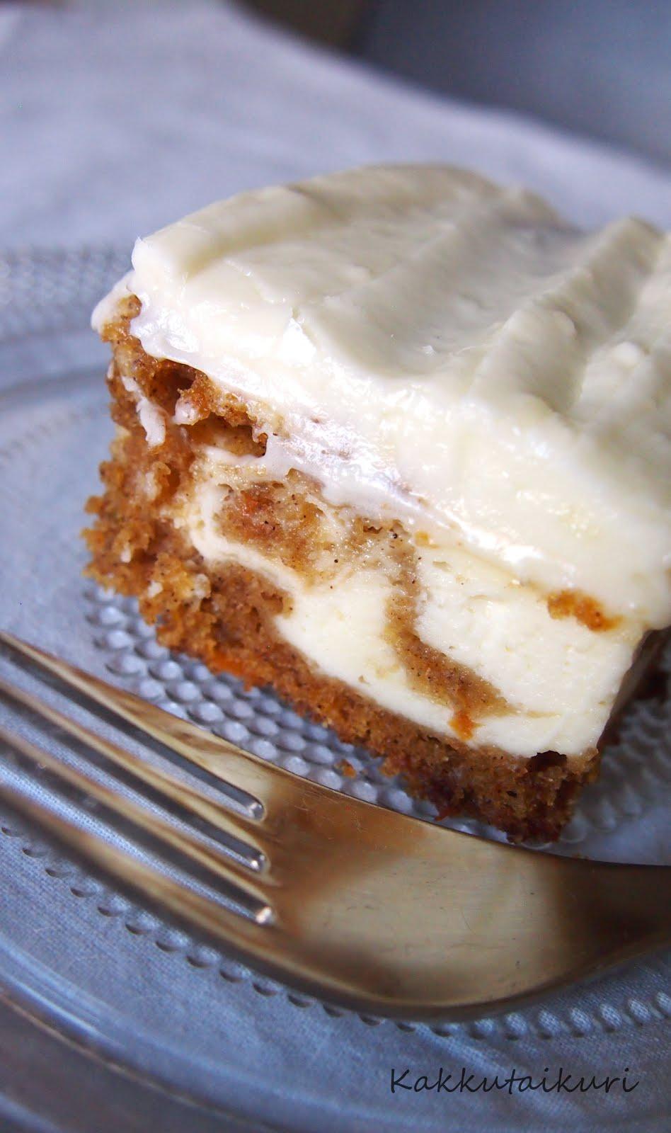 Porkkana-juustokakku