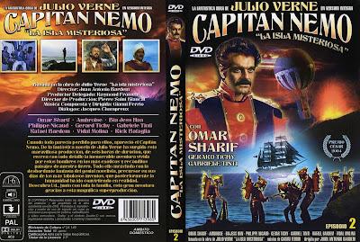 La isla misteriosa y el Capitán Nemo 1973 - caratula