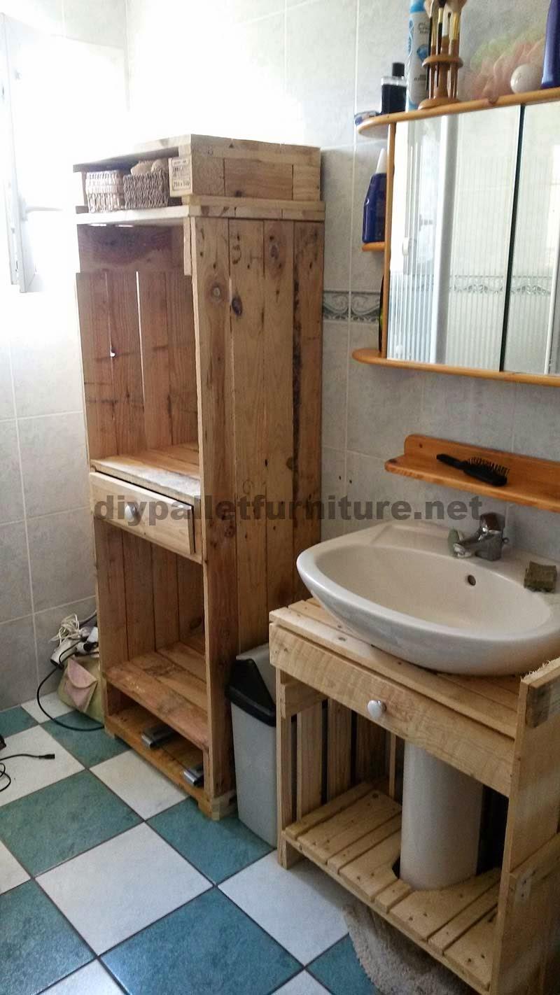 Armarios - Meuble salle de bain palette ...