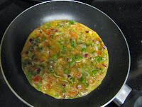 3 Vegetable Masala Omelette
