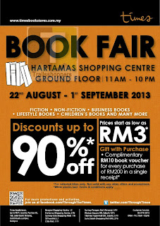 Times Book Fair Hartamas. Book Prices start as low as RM3.