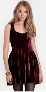 Heart Velvet Cutout Dress