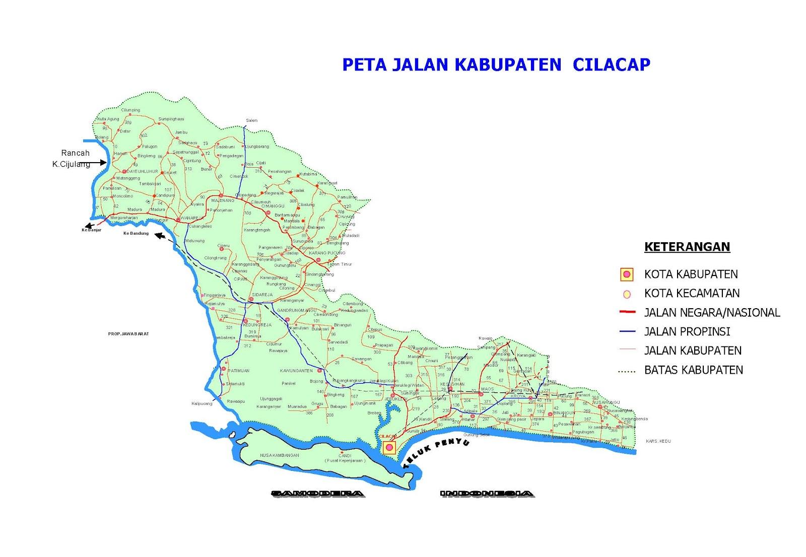 Cilacap Indonesia  city photo : Peta Kota: Peta Kabupaten Cilacap