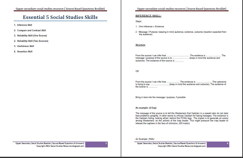 secondary 3 social studies essay