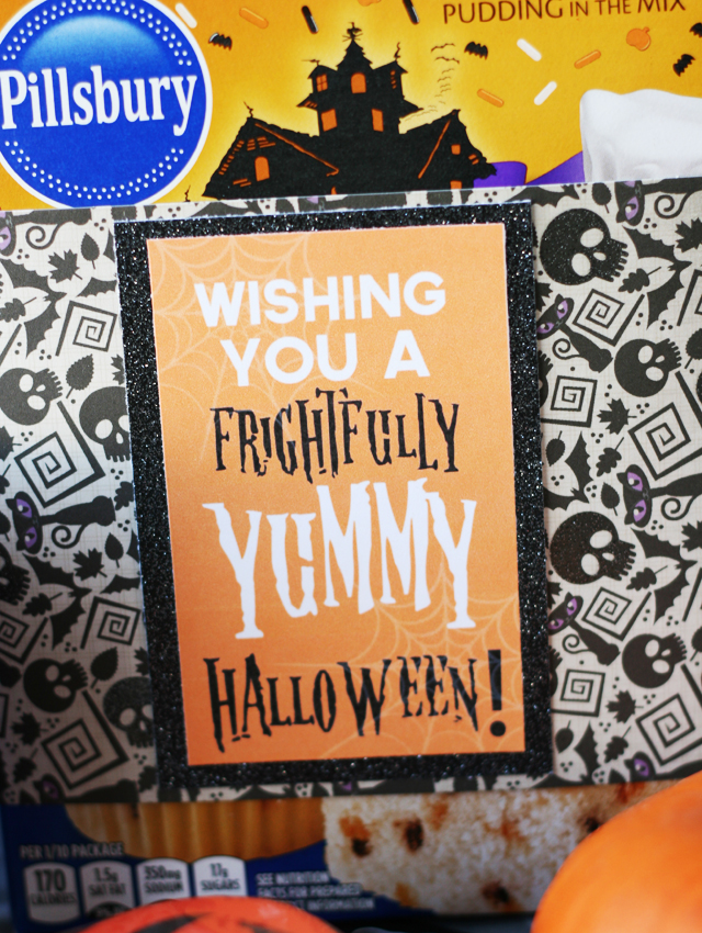 Halloween treat tag printable printable blog hop my sisters you can attach these free printable tags to any sort of baking mix cookie cutters decorations or treats kids cookie cutters brilliant negle Gallery