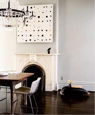 hustle home make your own art abstract spots. Black Bedroom Furniture Sets. Home Design Ideas