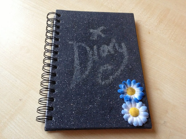 Denim daisy notebook diary