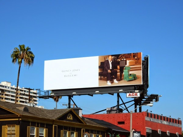 Quincy Jones Buscemi luxury sneakers billboard