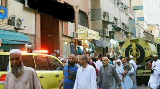 Foto Kebakaran Hotel di Mekkah