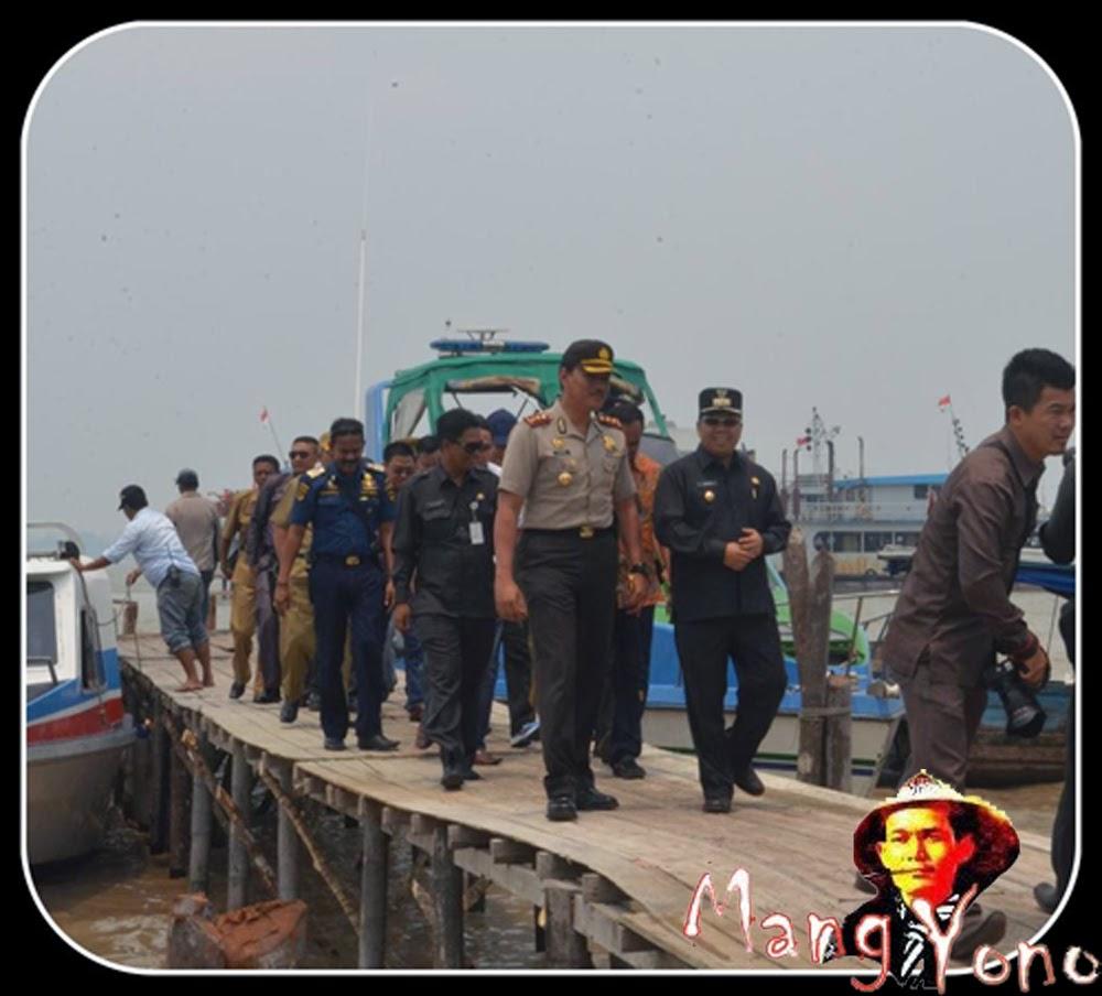 Rombongan Peresmian Ekspor Semelter Timah Pulau Topang