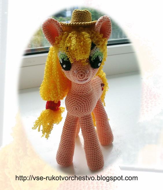 Пони Эпплджек вязаная крючком