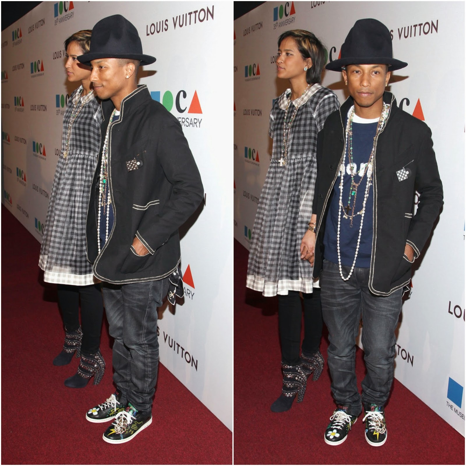 Pharrell Williams in Chanel - The Museum Of Contemporary Art (MOCA) 35th Anniversary Gala