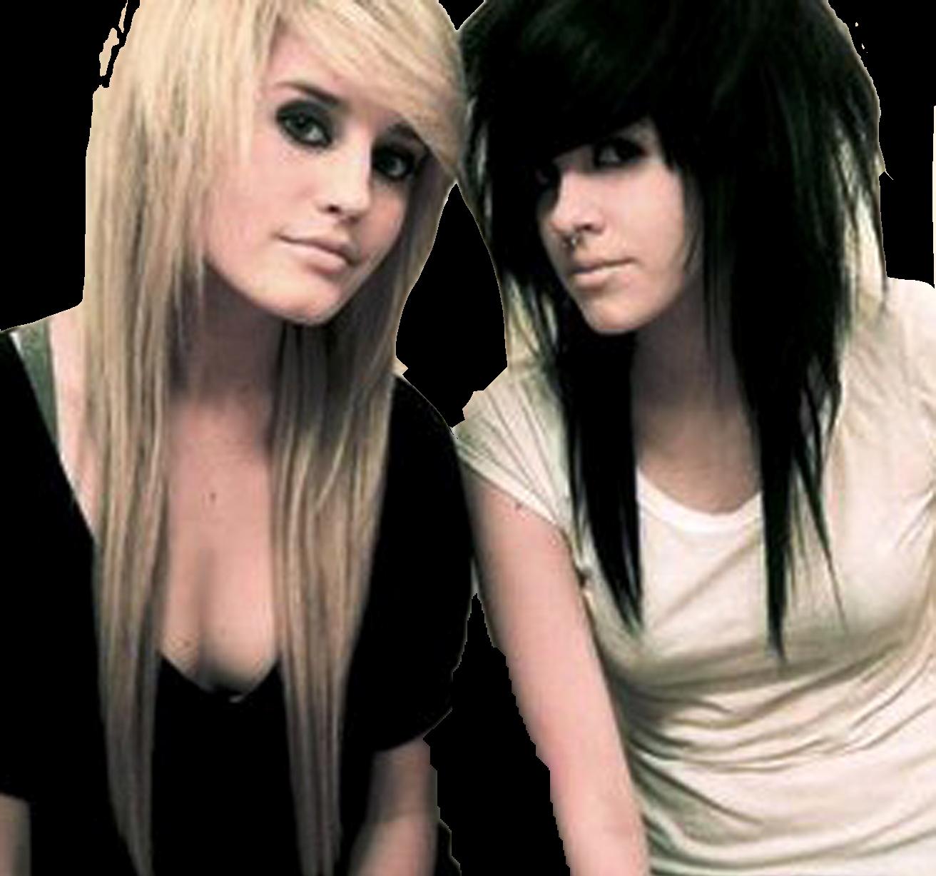 rockero cambios de look choppy hair corte de pelo emo emo punk haircut