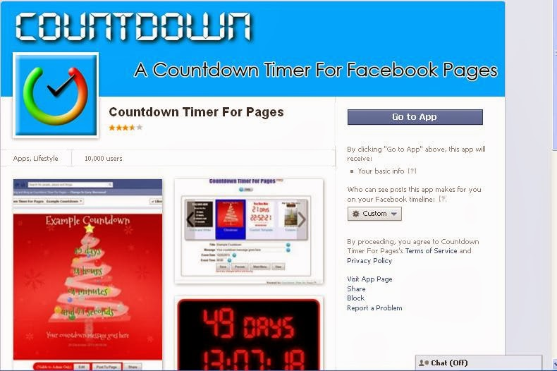 How to add countdown clock on facebook page - YouTube