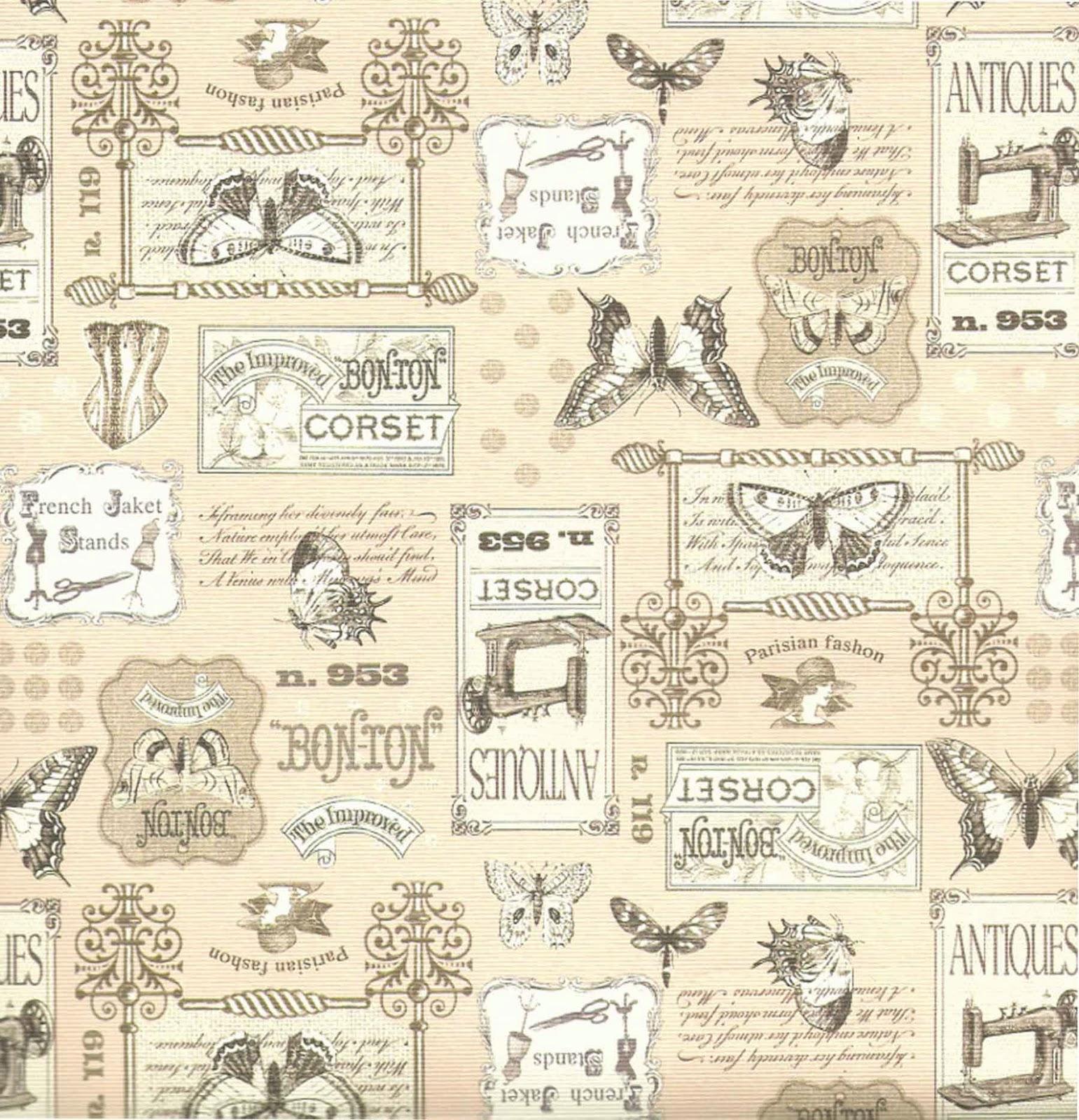 Papel para scrapbook vintage imagui - Papel vintage pared ...